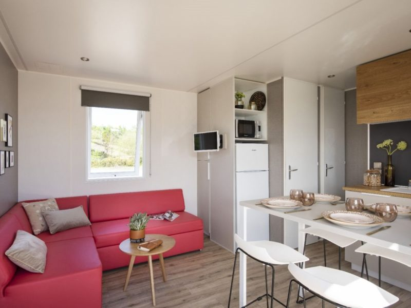 Stacaravan Cottage woonkamer - Rivièra d'Azur