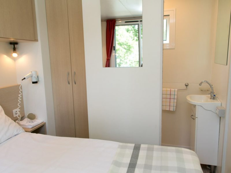 Selectcamp stacaravan slaapkamer