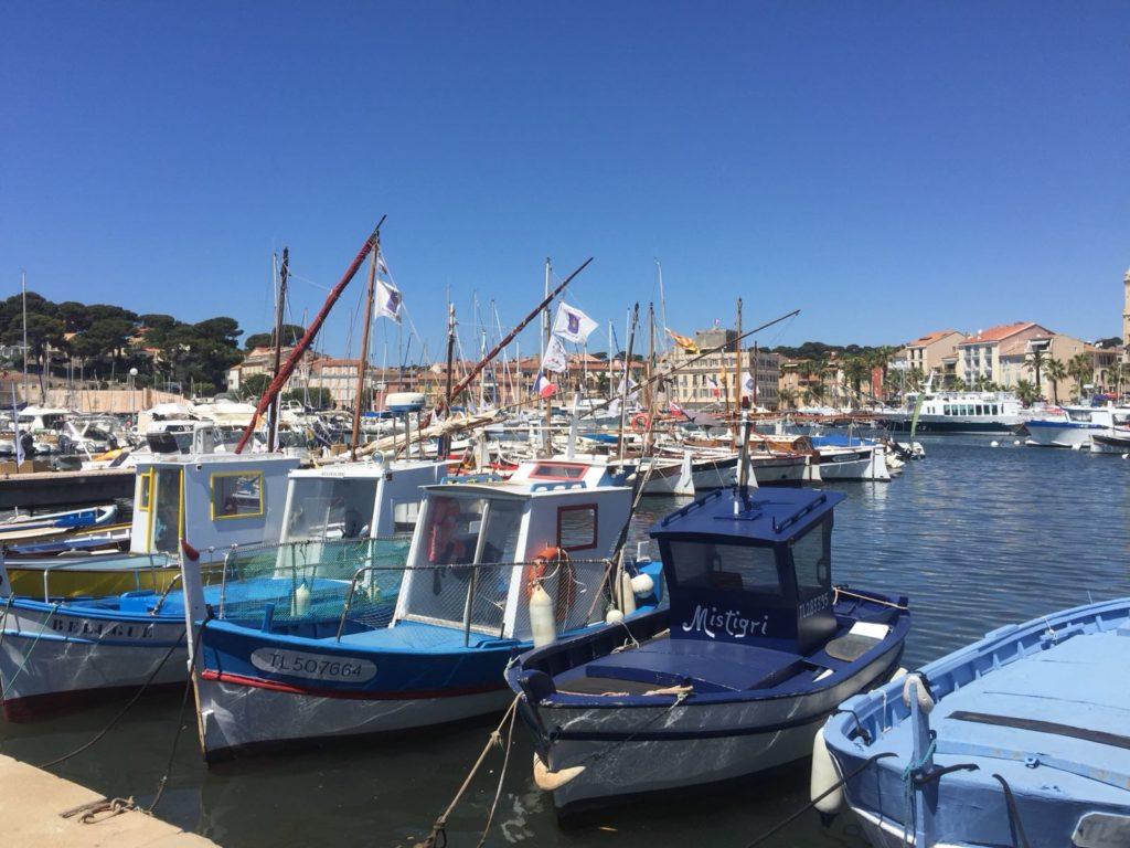 Sanary-sur-Mer bootjes in de haven